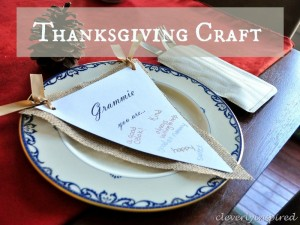 Easy Thanksgiving craft: Chair back nametags