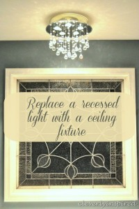 How to replace recessed light with a ceiling light
