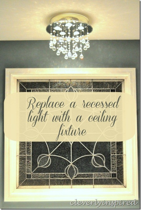 how to change a ceiling light to a recessed