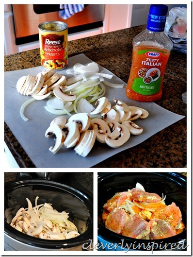 slow cooker artichoke chicken recipe @cleverlyinspired (1)