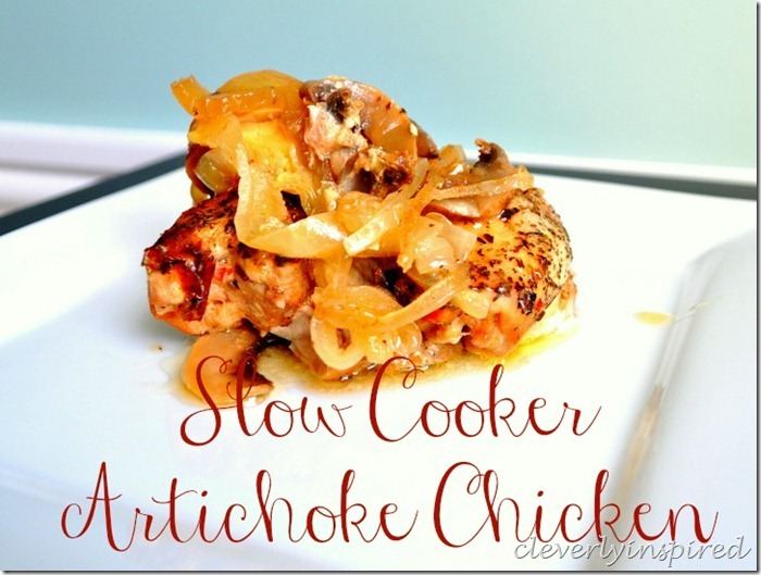 slow cooker artichoke chicken recipe @cleverlyinspired (5)