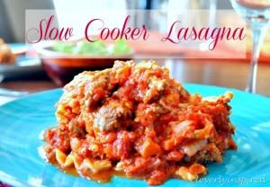Slow Cooker Lasagna (crock pot) recipe