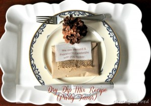 DIY party favor: Dry dip mix recipe