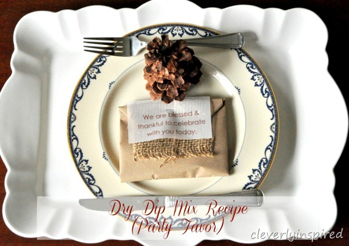 DIY party favor dry dip mix recipe @cleverlyinspired (2)