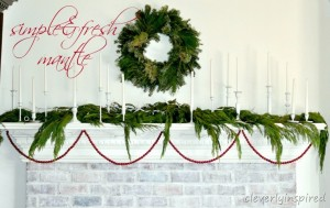Christmas Mantle 2012 (decorating a Holiday mantle)