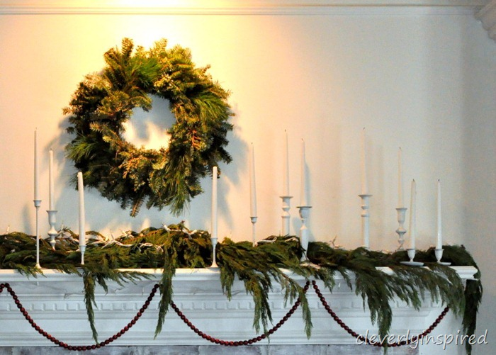 christmas mantle 2012 (decorating a holiday mantle) @cleverlyinspired (14)