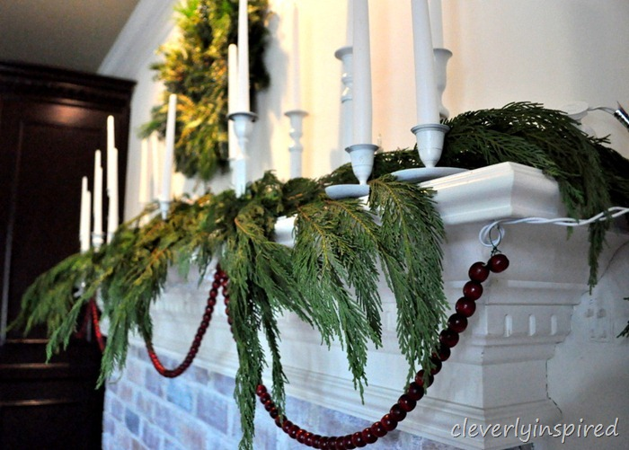 christmas mantle 2012 (decorating a holiday mantle) @cleverlyinspired (15)