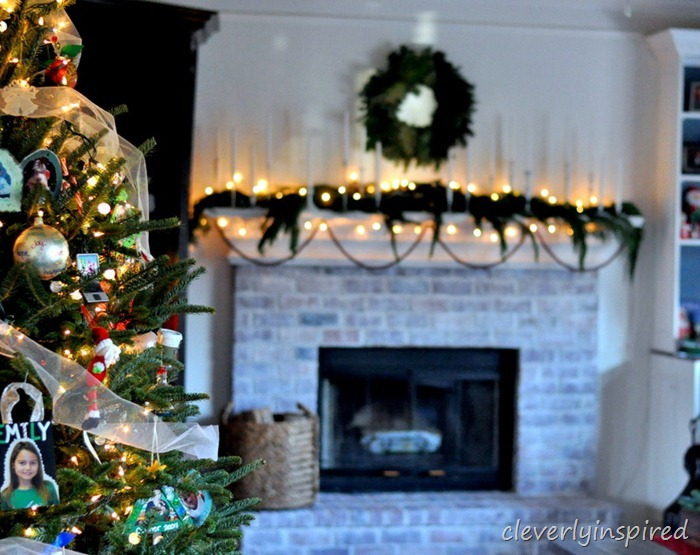 christmas mantle 2012 (decorating a holiday mantle) @cleverlyinspired (2)