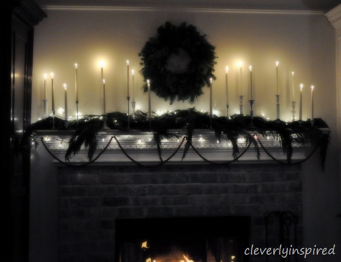 christmas mantle 2012 (decorating a holiday mantle) @cleverlyinspired (7)
