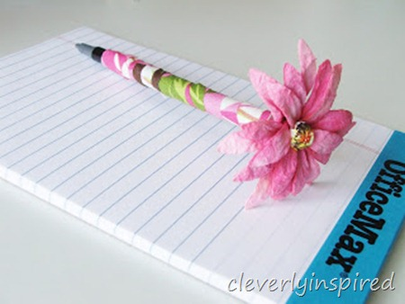 diy wrapped pen