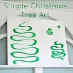 Easy DIY Christmas Tree Canvas Art