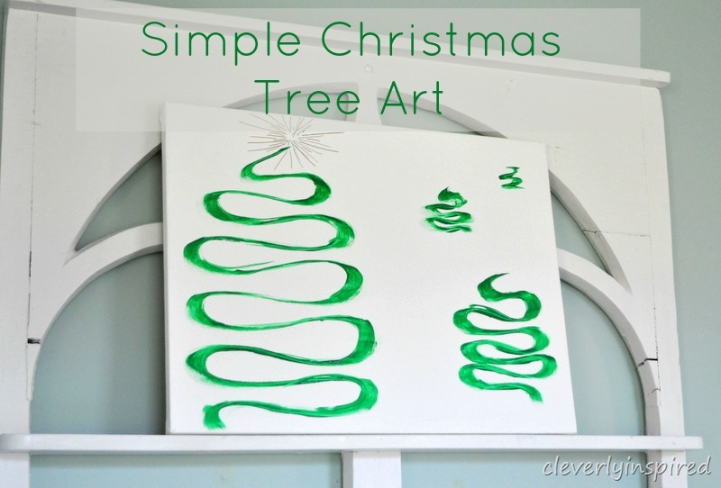 easy christmas tree canvas art