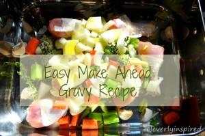 Easy make ahead turkey gravy recipe
