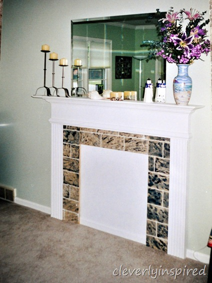 faux fireplace @cleverlyinspired