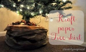 Kraft paper Tree skirt