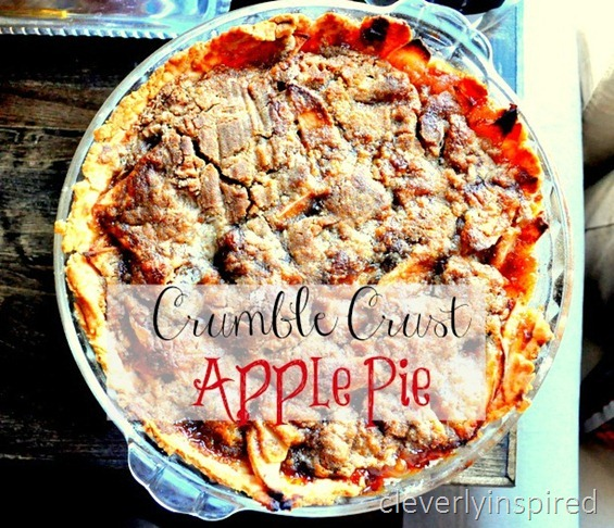 crumb crust apple pie recipe @cleverlyinspired (1)