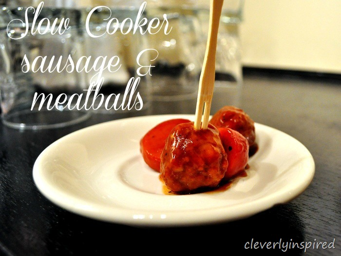 Slow cooker sausage & meatball recipe