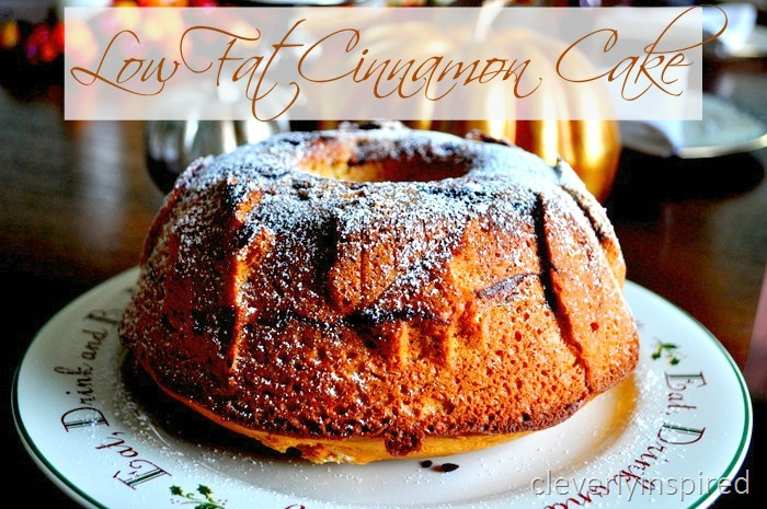 Low Calorie Recipes With Cake Mix: Low-fat Cinnamon Cake Recipe