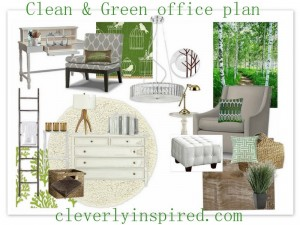 Clean and Modern Office/Craft space (moodboard)