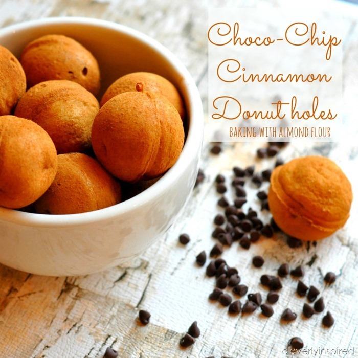 chocolate cinnamon donut holes baking with almond flour @cleverlyinspired (1)