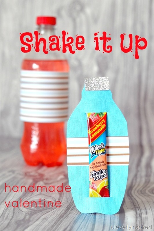 shake it up  handmade valentine
