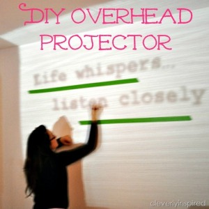 DIY overhead projector (how to paint an image on the wall)