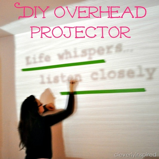 diy overhead projector how to paint an image on the wall. Black Bedroom Furniture Sets. Home Design Ideas
