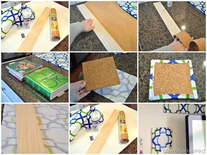 Fabric covered office accessories diy for Diy office accessories