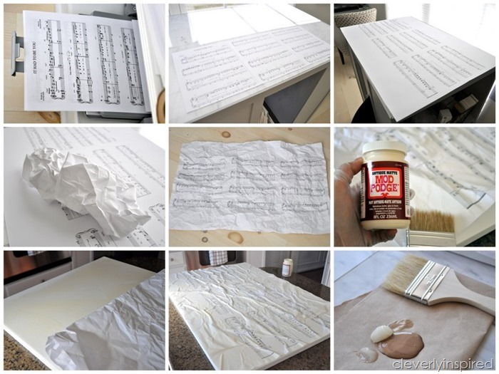 Wedding Song art DIY @cleverlyinspired (10)