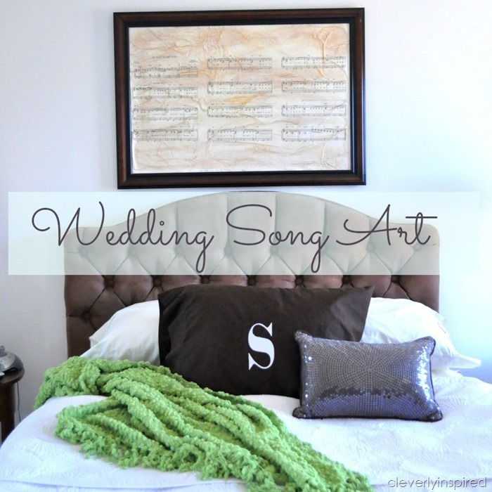 Wedding Song art DIY @cleverlyinspired (4)