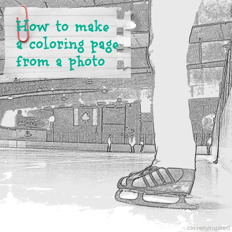 How to make a coloring page from a photo