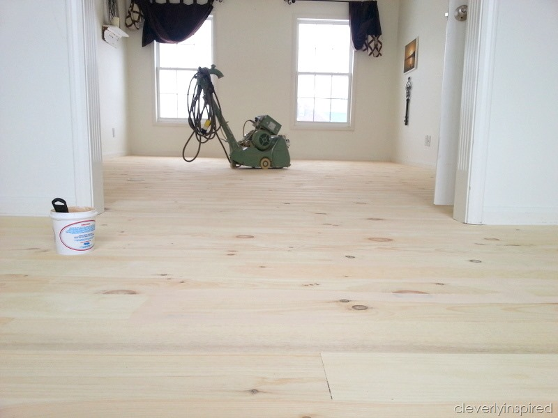 white washed wood floor. white pine wood floor cleverlyinspired washed t