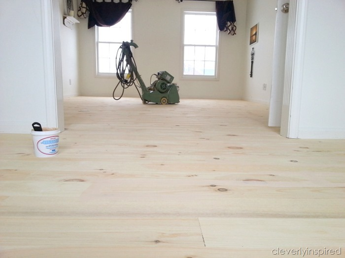 white pine wood floor @cleverlyinspired