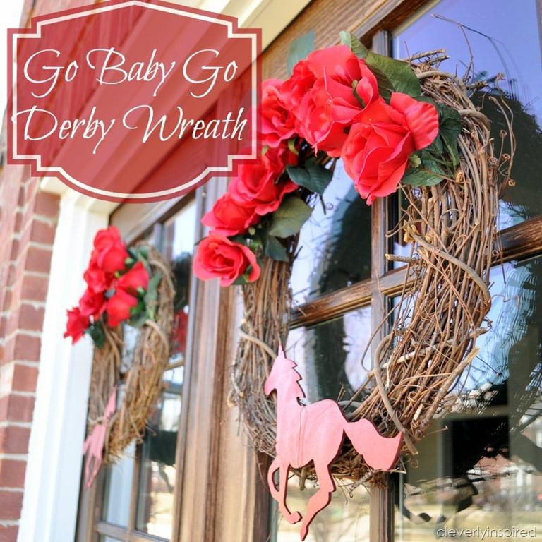 Kentucky Derby Wreath Diy Spring Wreath
