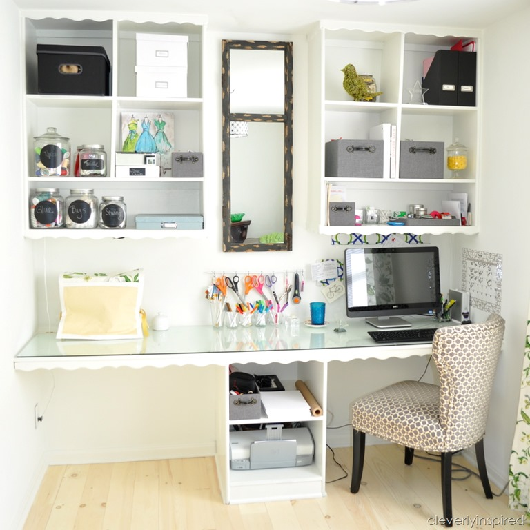 Office Craft Room @cleverlyinspired (6)
