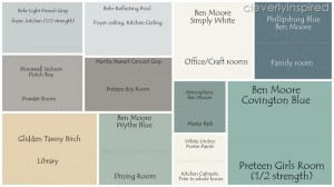 The Paint Colors in our home