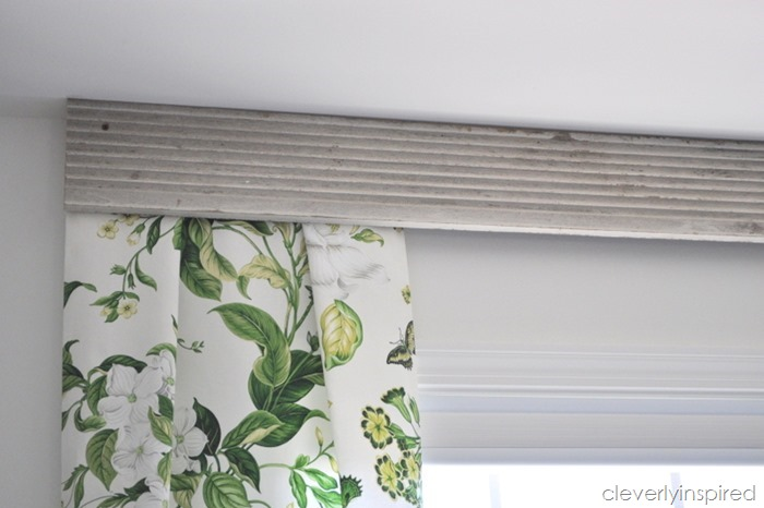 using old trim to create a valance @cleverlyinspired (2)