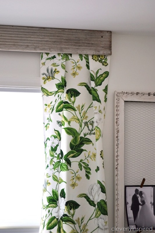 using old trim to create a valance @cleverlyinspired (4)