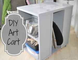 DIY Art Cart