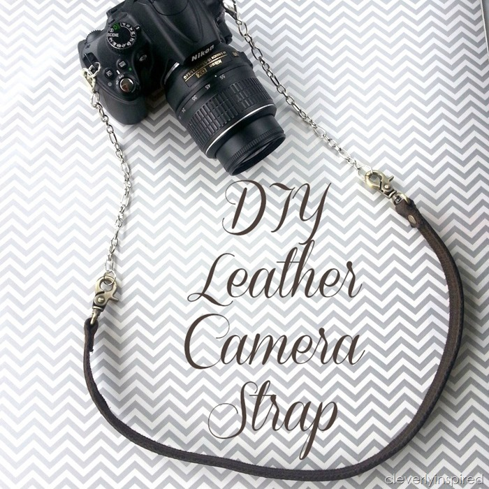 diy leather camera strap @cleverlyinspired (10)
