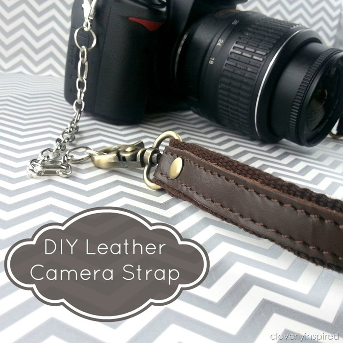 diy leather camera strap @cleverlyinspired (4)