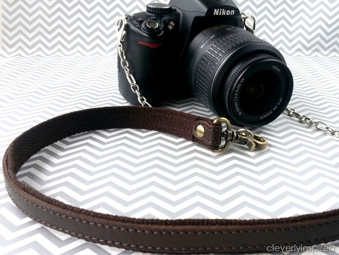diy leather camera strap @cleverlyinspired (8)