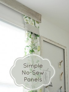 Simple no sew drapery panels