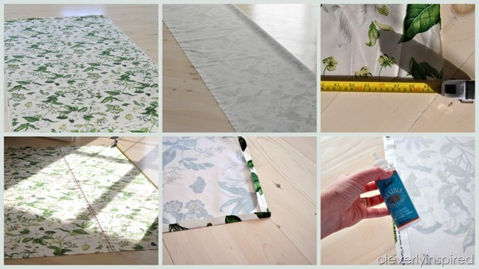 simple no sew drapery panels @cleverlyinpired (4)