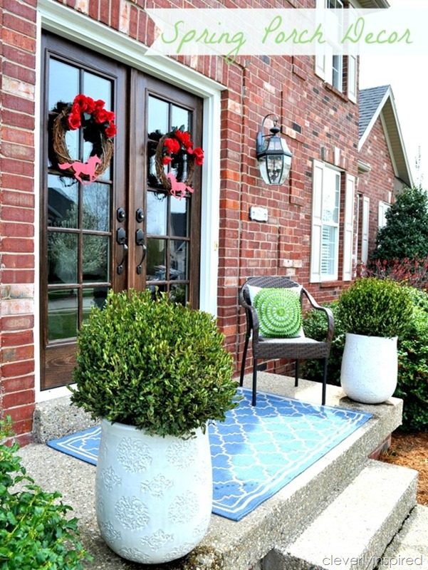 spring porch decor @cleverlyinspired (4)