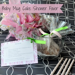 Baby Mug Cake: Baby shower favor