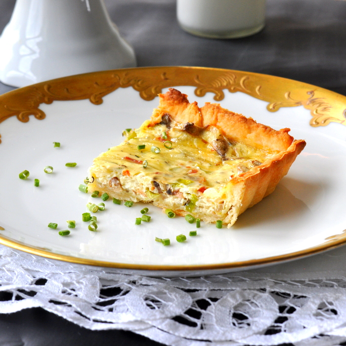 Bacon & Mushroom quiche recipe