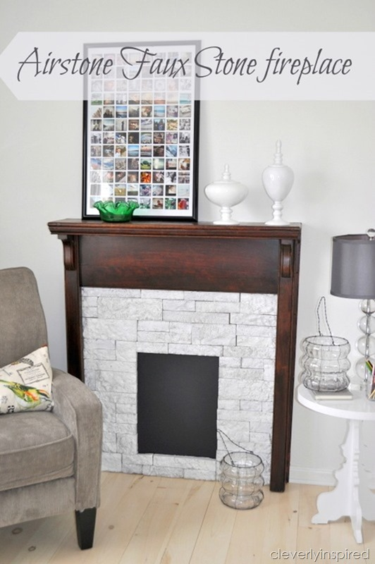 creating a faux stone fireplace with airstone @cleverlyinspired (5)