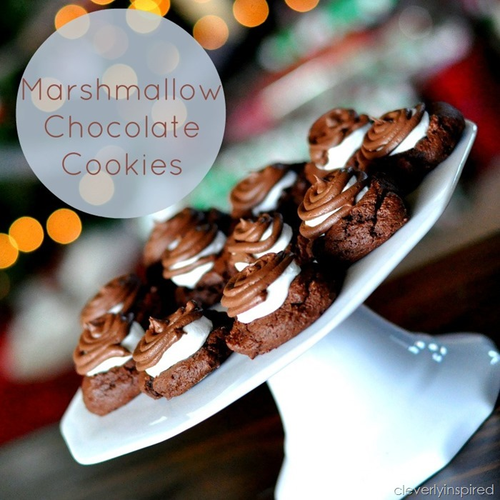 double chocolate marshmallo cookie @cleverlyinspired (1)