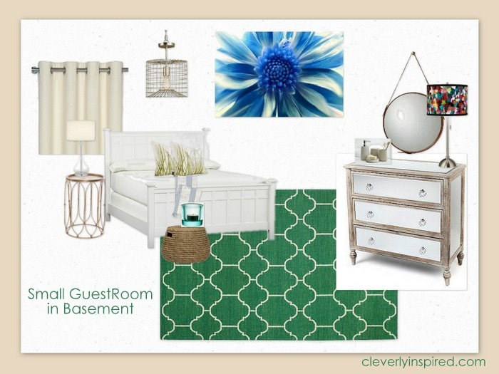 guest bedroom in basement @cleverlyinspired (4)